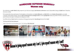 Hardcore workout Spielplatz