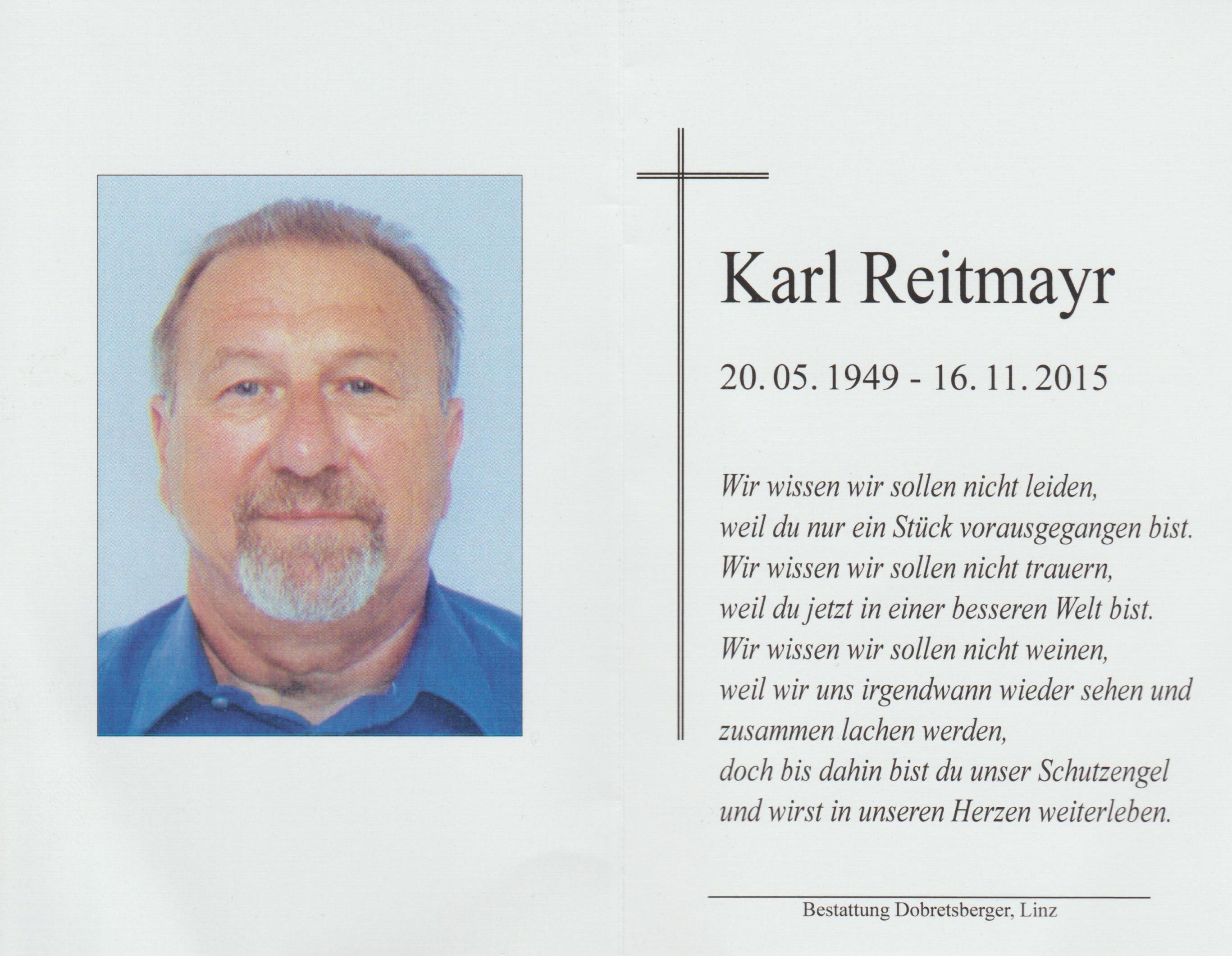 Reitmayr Karl Totenbild