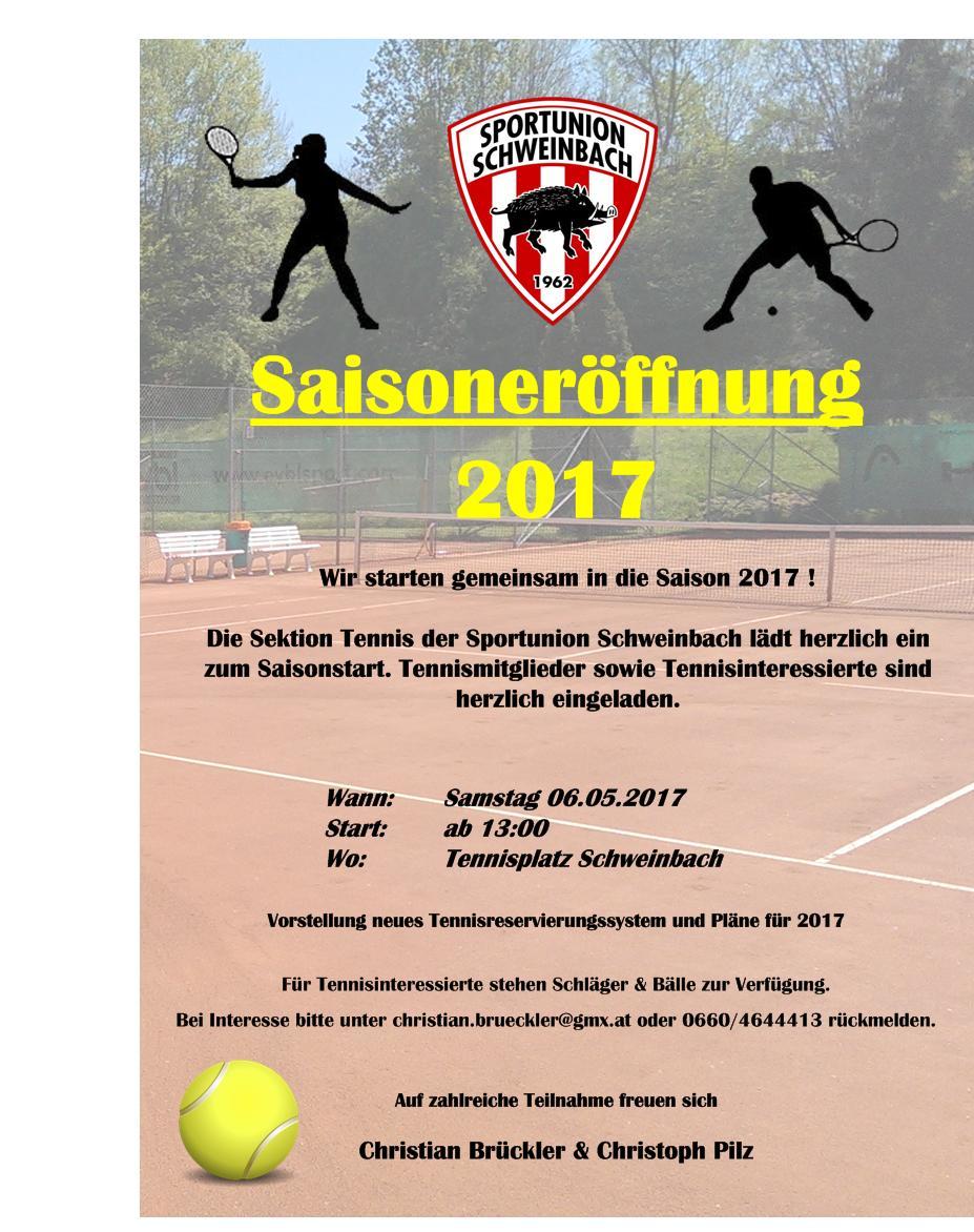 Tennis Saisoneröffnung 2017