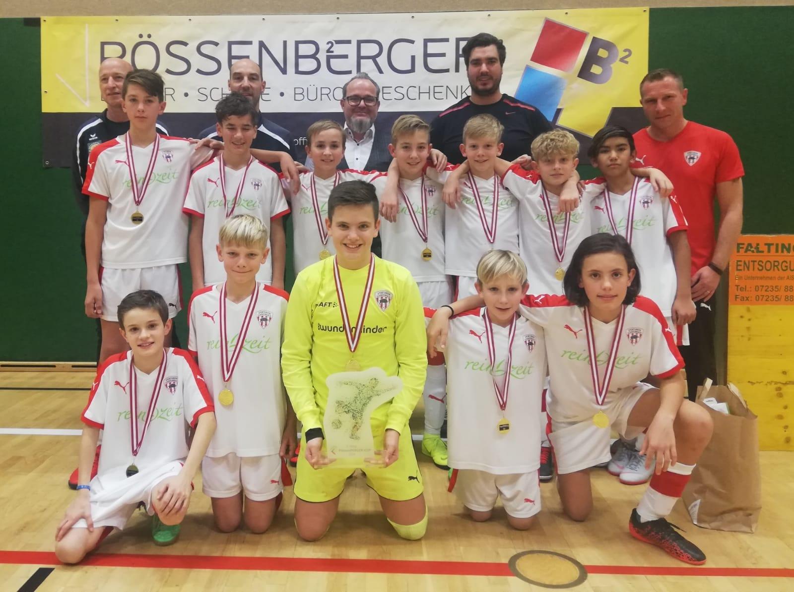 Gelungener Auftritt unserer U13 beim Pössenberger Hallencup in Perg